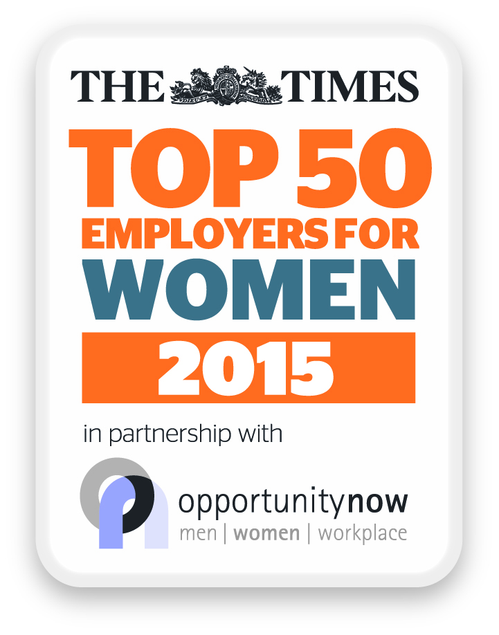 The Times Top 50 Employers for Women 2015